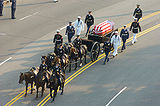 Ronald Reagan casket on caisson during funeral procession.jpg