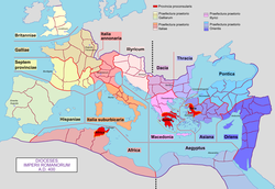 Roman Empire with dioceses in 400 AD.png